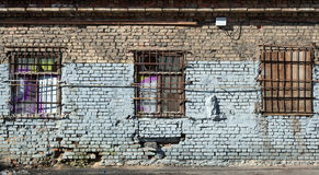 Old abandoned building wall texture Royalty Free Stock Photography