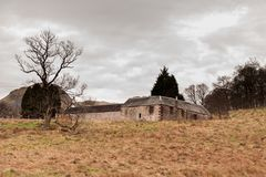 Old abandoned building on the West Highland Way stock photos