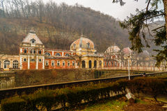 Old abandoned buildings in the Roman spa town in Romania, Mehedi Stock Photos