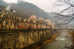 Old abandoned buildings in the Roman spa town in Romania, Mehedi Stock Image