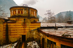 Old abandoned buildings in the Roman spa town in Romania, Mehedi Royalty Free Stock Photo