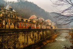Old abandoned buildings in the Roman spa town in Romania, Mehedi Royalty Free Stock Images