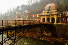 Old abandoned buildings in the Roman spa town in Romania, Mehedi Royalty Free Stock Image