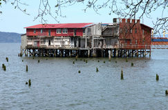 Old abandoned cannery, Astoria OR. Stock Image