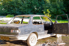A old abandoned car Stock Image