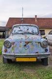 Old abandoned car Fiat Zastava 750.  royalty free stock photos