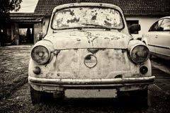 Old abandoned car Fiat Zastava 750.  stock photography