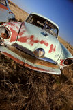 Old Abandoned Car in Field Saskatchewan Canada. Rusted Stock Photos