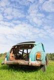 Old abandoned car. Old abandoned rusty vintage car Royalty Free Stock Image