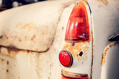 Old abandoned car tail light Stock Images
