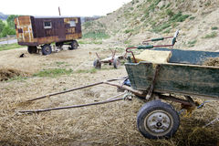 Old abandoned cart. In Romania Stock Images