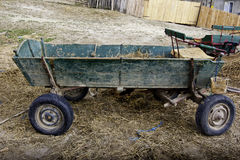 Old abandoned cart. In a yard in Romania Royalty Free Stock Image