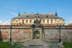 Old Abandoned Castle In Lviv Region, Pidhirtsi, Ukraine, Since 1635 Year. The View From The Front Side Royalty Free Stock Photography