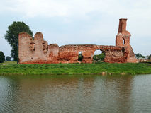 Old abandoned castle in the village Besiekiery in Poland without the owner Royalty Free Stock Photo