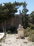 Old abandoned cemetery in Comino island, Malta Royalty Free Stock Photos