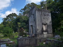 Old abandoned cemetery in ruins of jesuit missions in argentina Royalty Free Stock Photo