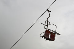 Old abandoned chairlift Stock Photos