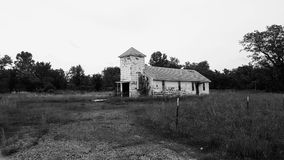 Old abandoned church in Picher Oklahoma Stock Photos