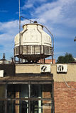 Old abandoned closed steel steelworks of water tower Royalty Free Stock Photos