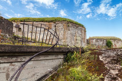 Old abandoned concrete bunkers from WW2 period Stock Photos