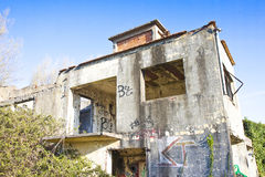 Old abandoned concrete factory Royalty Free Stock Photo