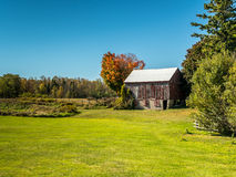 Old Abandoned Contry Barn In Fall Stock Photos