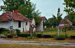 Old abandoned country house stock photo