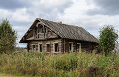 Old abandoned country wooden house stock images
