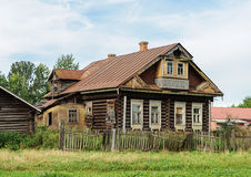 Old abandoned country wooden house Stock Image