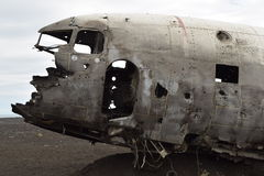 Old abandoned crashed airplane Royalty Free Stock Images