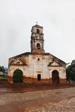 Old abandoned Curch of Saint Anna. Rainy and cloudy weather. Trinidad, Cuba, July 2016. Old abandoned Church of Saint Anna. Rainy and cloudy weather Stock Photo