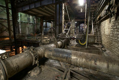 Old abandoned dark factory royalty free stock photography