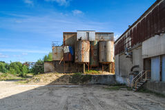 Old abandoned defaulted industrial building Royalty Free Stock Photography