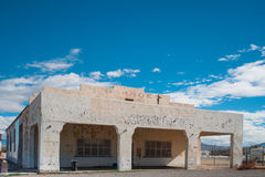 Old abandoned desert gas station Royalty Free Stock Photography