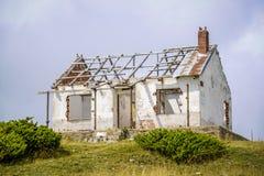 Old abandoned dilapidated house stock photo