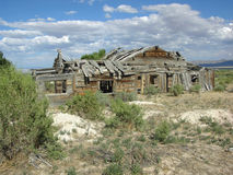 Old, abandoned, dilapidated wooden home near Baker, Nevada Stock Images