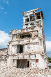 Old abandoned dirty comunism factory building during demolition Stock Photography