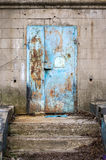 Old abandoned door. In the building Stock Photos