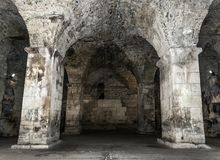 Old abandoned dungeons or catacombs. Royalty Free Stock Photos