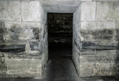 Old abandoned dungeons or catacombs. Stock Photography