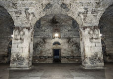 Old abandoned dungeons or catacombs. Royalty Free Stock Photo