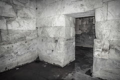 Old abandoned dungeons or catacombs. Stock Photo