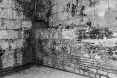 Old abandoned dungeons or catacombs. Royalty Free Stock Image