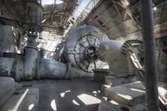 Old Abandoned Electric Power Station Royalty Free Stock Photography