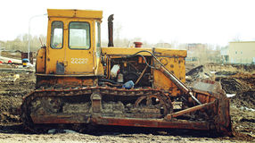 Old abandoned excavator Royalty Free Stock Photos