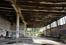 Old abandoned factory building. On a former company site Royalty Free Stock Images