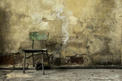 Free Old Abandoned Factory Building,old Wooden Chair Royalty Free Stock Photography - 80488657