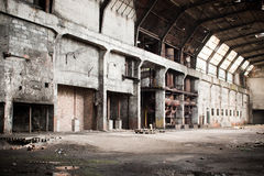 Old abandoned factory - furnance Stock Images