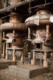 Old abandoned factory - furnance Stock Photos