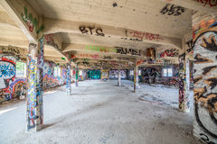 Old abandoned factory hall Royalty Free Stock Photos